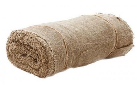 Ткань мешковина джут 50% + лен 50% (ширина 106 см, плотность 360 гр./м²)