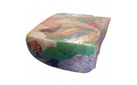 Ветошь цветная крупный лоскут (махра) 40х60 брикет 10 кг ГОСТ 4643-75